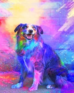 Colorful Dog paint by number