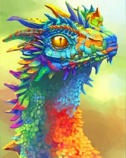 Colorful Dragon paint By Numbers