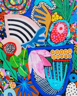 Colorful Painting paint by numbers