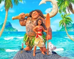 Disney Moana Movie Paint By Numbers