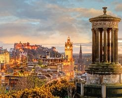 dugald stewart monument Edinburgh adult paint by numbers