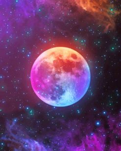 Galaxy Moon Paint By Numbers