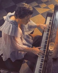 Harry Styles Playing Piano Paint By Numbers