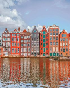Houses Amesterdam paint by numbers