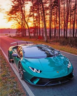 luxury car adult paint by numbers