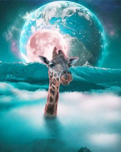 Moon Giraffe paint By Numbers