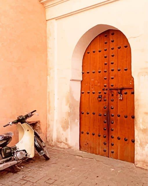 Motorcycle Door Marrakesh Morocco paint by number