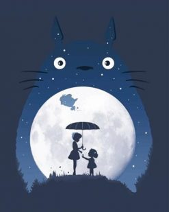 My Neighbor Totoro Silhouette paint By Numbers