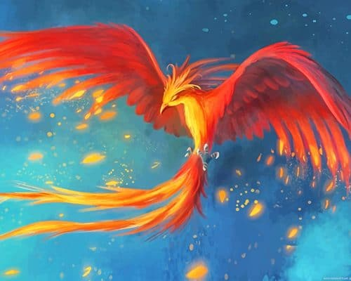 Phoenix Bird Mythology paint by number