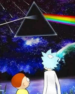 Pink Floyd Rick And Morty paint By numbers