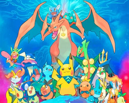 Pokemon anime paint by number