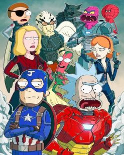 Rick And Morty Avengers paint by numbers