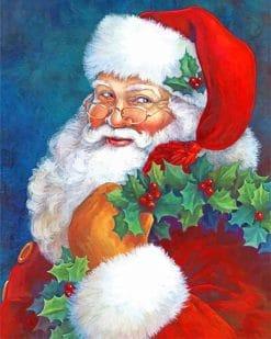 Cute Santa Paint By Numbers