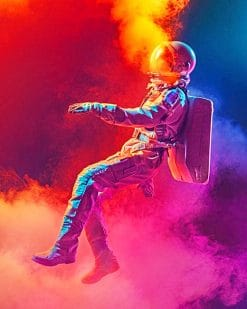 Spaceman smoke paint by numbers