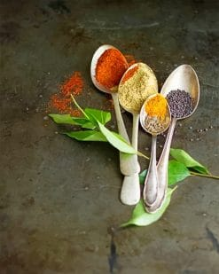 Spices Spoon paint by number