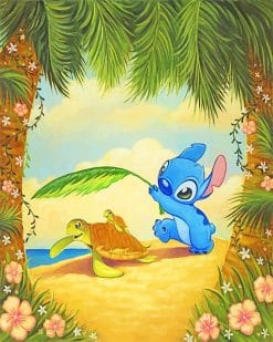 Stitch And His Friends Paint By Numbers