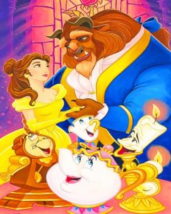 The Beauty And The Beast paint By numbers