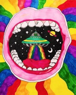 Trippy Alien paint by Numbers