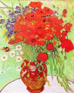 Vincent Van Gogh Poppies And Daisies Paint By Numbers