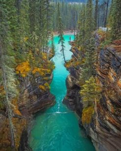 Jasper National Park Of Canada River paint by numbers