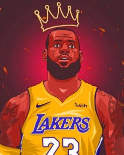 Lebron James The King of Batsketball paint by numbers