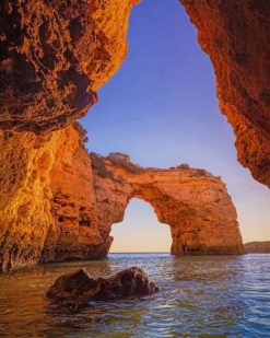 Marinha Beach Portugal paint by numbers