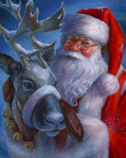 Santa Claus Christmas paint by numbers