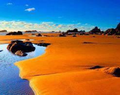 Beautiful Desert Beach paint by number