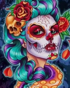 Catrina Skull paint by numbers