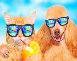 Cool Cat And Dog paint by number