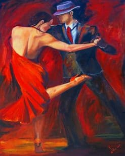 Couple Dancing Tango paint by numbers