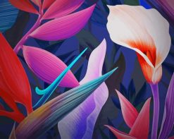 Flowers Graphic Art paint by number