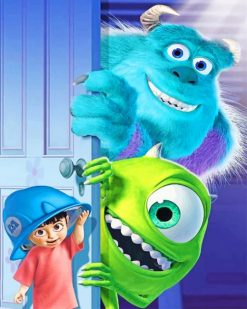 Monsters Inc Sully And Boo paint by numbers