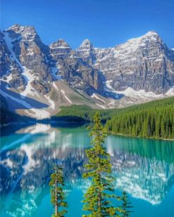 Moraine Lake Banff National Park of Canada paint by numbers