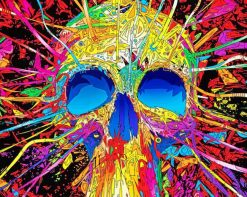 Skull Colorful Art paint by number