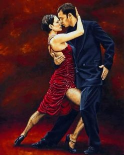Tango Dancers paint by numbers