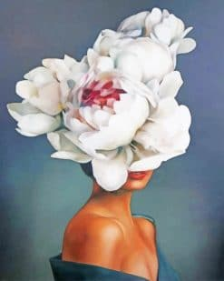 Woman Flowers Head paint by numbers