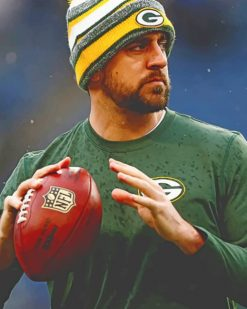 Aaron Rodgers Player paint by numbers
