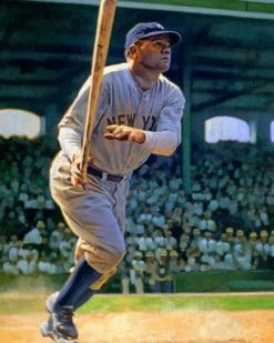 Babe Ruth paint by numbers