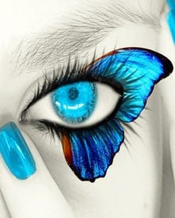 Blue Butterfly Eye paint by numbers
