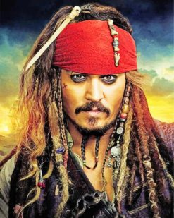 Captain Jack Sparrow Character paint by numbers
