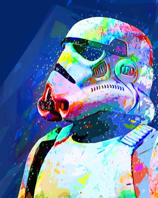 Captain Phasma Star Wars paint by numbers