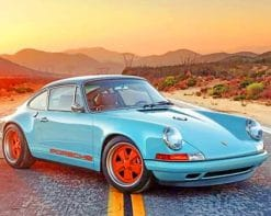 Classic Car Porsche paint by numbers