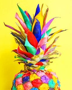 Colorful Pineapple paint by numbers