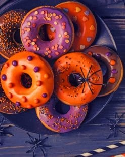 Halloween Donuts paint by numbers