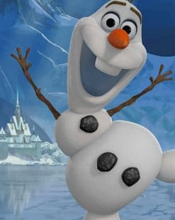 Happy Olaf Frozen paint by numbers