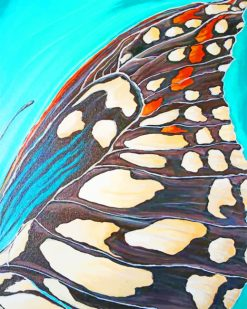Landed Butterfly Abstract paint by numbers