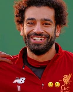 Mohamed Salah paint by numbers