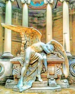 Montjuic Cemetery Spain painnt by numbers