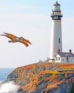 Pigeon Point Lighthouse paint by numbers